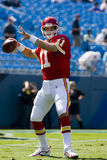 Leiter NFL-Kansas City gegen Carolina-Leoparden Stockfotos