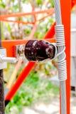 Leiter und Isolatoren lizenzfreie stockfotos