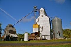 Leiter und Käfig eines Korn-Behälters stockfotografie
