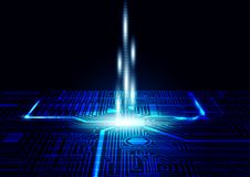 Leiterplatte-Beschaffenheitshintergrund, Technologiekonzept-Vektorillustration Lizenzfreie Stockfotografie
