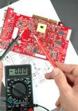 Leiterplatte des elektronischen Messinstruments und gedruckten Lizenzfreie Stockfotos