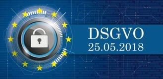Leiterplatte-Fahnen-Daten DLock DSGVO stock abbildung