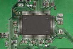 Leiterplatte und Prozessor Stockfoto