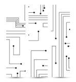 Leiterplattefahne für Ihren Entwurf. Stockbilder