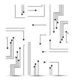 Leiterplattefahne für Ihren Entwurf. Lizenzfreie Stockfotografie