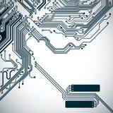 Leiterplattehintergrund mit einem elektronischen Muster Stockfoto