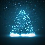 Leiterplattehintergrund, Weihnachtsbaum Lizenzfreie Stockbilder