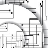 Leiterplatteillustration Stockfoto