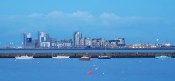 Leith Hafen und Skyline Lizenzfreies Stockfoto