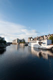 Leith harbour - Edinburgh, Scotland. Leith harbour in the sun - Edinburgh, Scotland Stock Photography