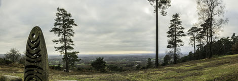Leith Hill Panorama Image stock