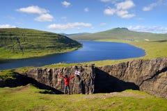 Leitisvatn or Sorvagsvatn Lake. Vagar island, Faroe Islands