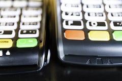 Leitor de cartão Keypad do crédito da máquina do ponto de venda foto de stock royalty free