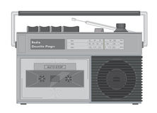 Leitor de cassetes de rádio Fotos de Stock Royalty Free
