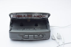 Leitor de cassetes estereofônico pessoal portátil da fita Foto de Stock Royalty Free