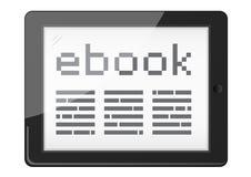 Leitor de Ebook Fotografia de Stock