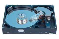Leitor HDD com um azul Imagem de Stock Royalty Free