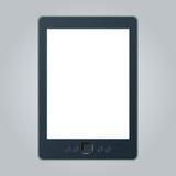 Leitor portátil do eBook com o trajeto de grampeamento dois para o livro e a tela Você pode adicionar sua própria texto ou imagem Fotografia de Stock Royalty Free
