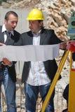 Leitores da construção Fotografia de Stock Royalty Free