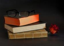 Leitores e livros foto de stock