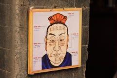 Leitura chinesa da cara Imagens de Stock