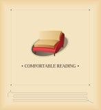 Leitura confortável Fotografia de Stock