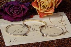 Leitura da carta de amor do vintage Imagem de Stock Royalty Free