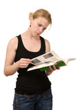 Leitura da mulher Imagens de Stock Royalty Free