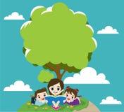 Leitura das crianças Foto de Stock Royalty Free