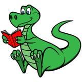 Leitura Dino Fotografia de Stock