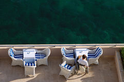 Leitura do beira-mar Foto de Stock