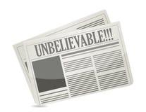 Leitura do título de jornal inacreditável ilustração do vetor