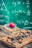 Leitura do trigonometria na escola Fotos de Stock