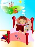 Leitura e fantasia Ilustração Royalty Free