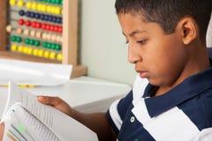 Leitura latino-americano da criança Fotos de Stock