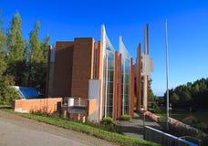 芬兰建筑学:朱哈Leiviskä -信义会(库奥皮奥, 1992) 库存照片