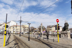 Lejon överbryggar i Sofia Arkivbilder