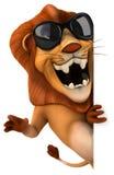 Lejon stock illustrationer