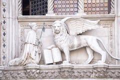 Lejon av St Mark arkivbild