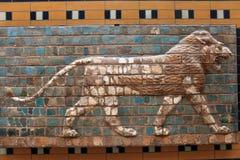 Lejon från den Ishtar porten Royaltyfria Bilder