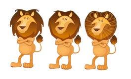 Lejon i afrikansk stil Royaltyfri Bild