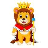 Lejon med kronan stock illustrationer