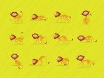 Lejon på grön bakgrund Royaltyfri Illustrationer