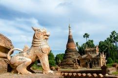 Lejon på Inwa Arkivfoto