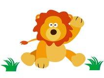 Lejon som säger hej royaltyfri illustrationer