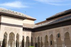 Lejonborggård i Alhambra Royaltyfria Foton
