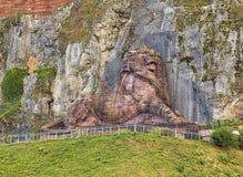 Lejonet av Belfort, Frankrike royaltyfri bild