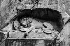 Lejonet av Lucern Arkivbild