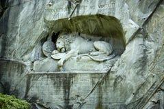 Lejonet av Lucerne Royaltyfria Foton