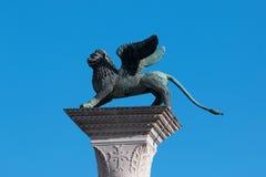Lejonet av St Mark, Venedig, Italien Royaltyfri Fotografi
